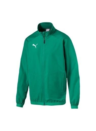 Puma Puma 65566705 Liga Sideline Jacket Yeşil - Beyaz Erkek Mont Yeşil